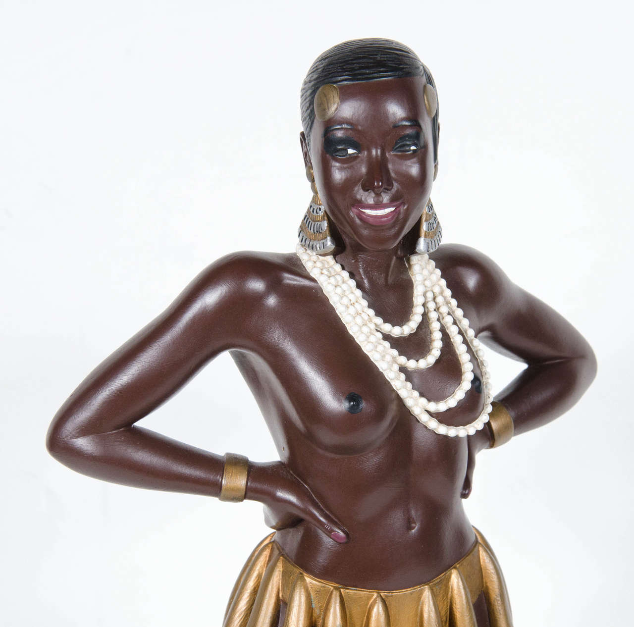 Hand painted ceramic statue of josephine baker by for Apparence decoration