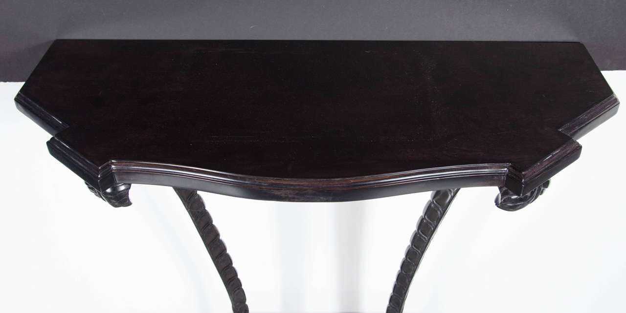 American 1940s Hollywood Regency Plume Console Table by Grosfeld House For Sale