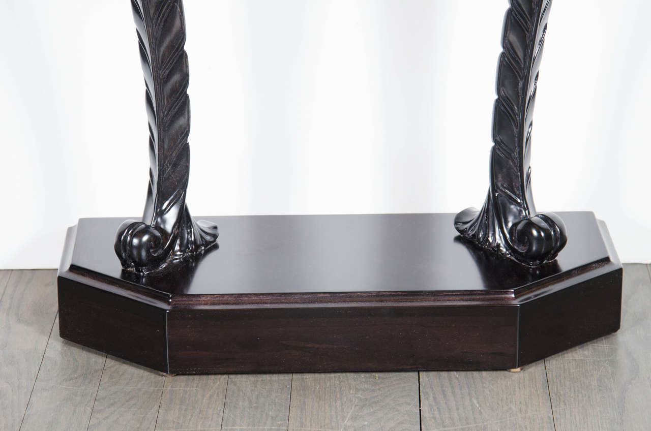 1940s Hollywood Regency Plume Console Table by Grosfeld House In Excellent Condition For Sale In New York, NY