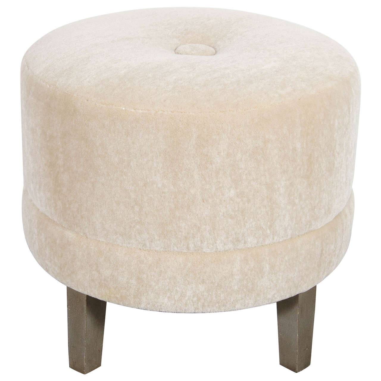 Art Deco Round Stool in Camel Mohair with Button Detail and Silvered Legs 1  sc 1 st  1stDibs & Art Deco Round Stool in Camel Mohair with Button Detail and ... islam-shia.org