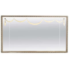 1940s Gilt Mirror with Neoclassical Motifs & Lucite Appliqués by Grosfeld House
