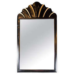 Elegant Art Deco Mirror by Dorothy Draper