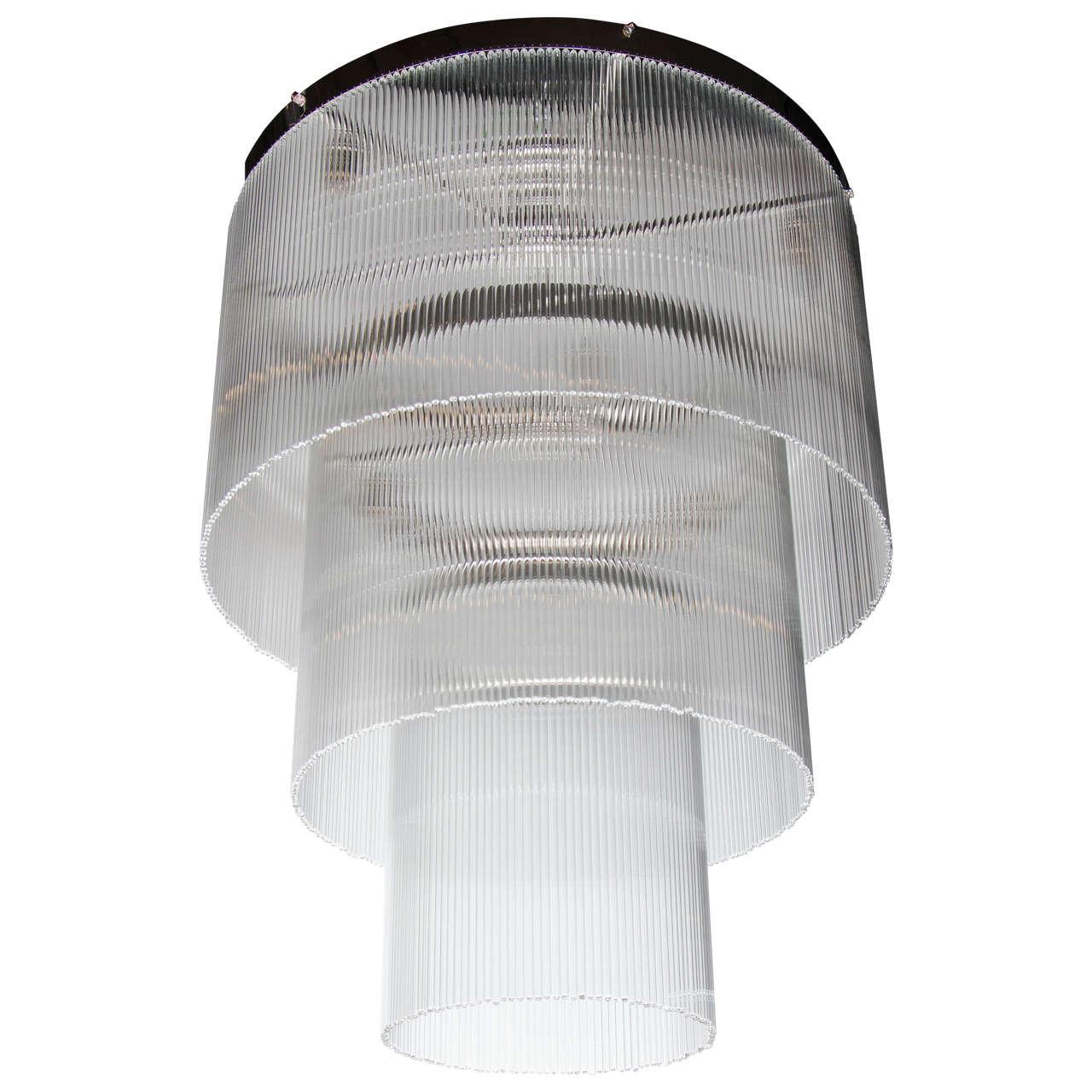 elegant the art of lighting. Elegant Art Deco Style 3-Tier Glass Rod Chandelier For Sale The Of Lighting