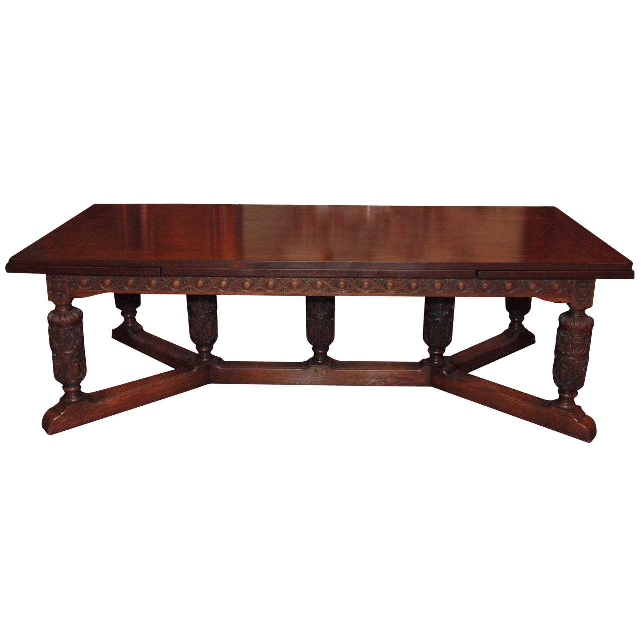 Antique English Oak Trestle Table circa 1880 at 1stdibs : X from www.1stdibs.com size 1281 x 1280 jpeg 67kB