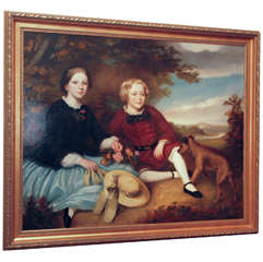 Antique 19th Century English School Portrait of the Young Gentry