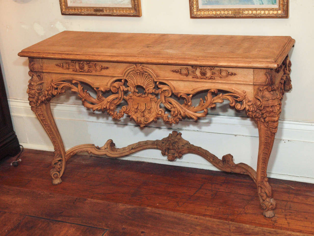Pair Renaissance NeoClassic Bois Naturel Consoles at 1stdibs -> Bois Naturel Table Casablanca
