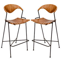 Pair of Arthur Umanoff Bar Stools