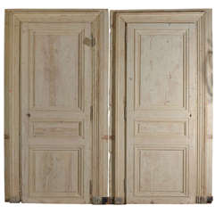 Set of 19th c French painted Doors