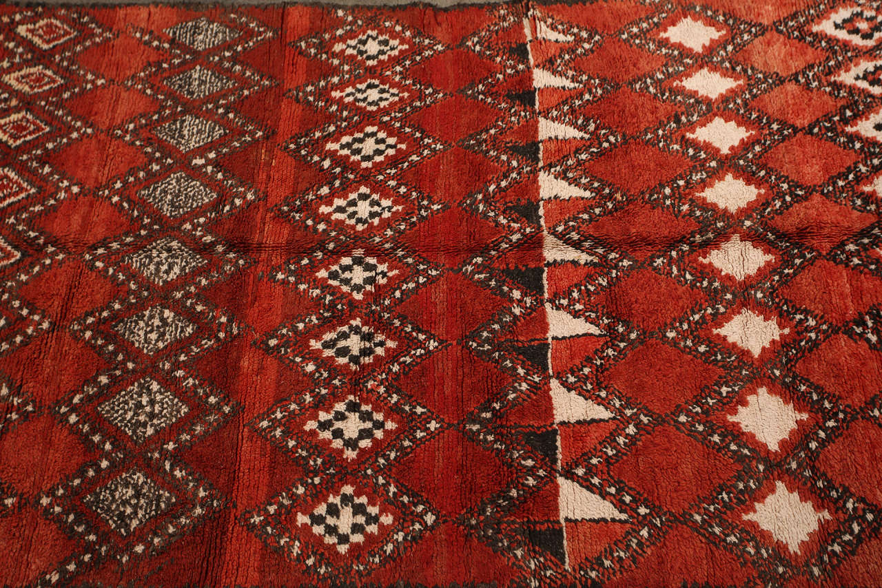 vintage moroccan red tribal rug 2