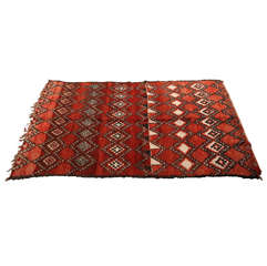 Vintage Moroccan Red Tribal Rug North Africa