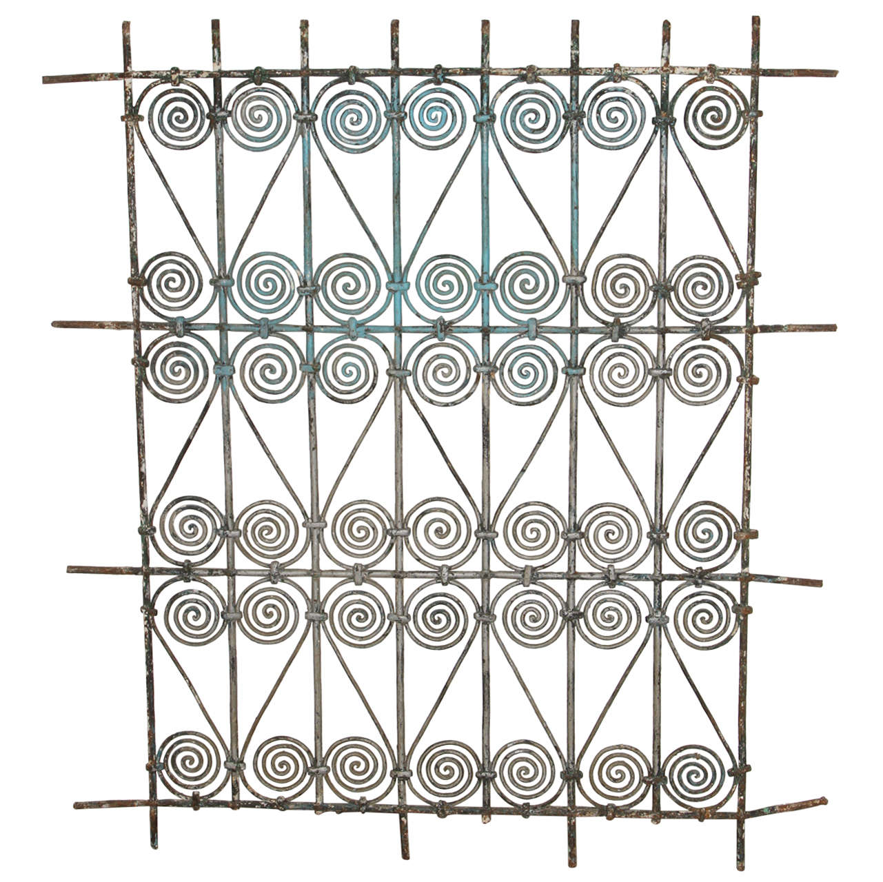Antique Moroccan Moorish Wrought Iron Window Grille at 1stdibs