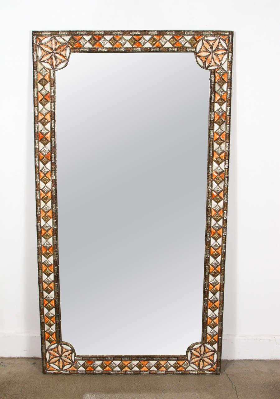 Elegant oversized moroccan mirror at 1stdibs for Elegant mirrors