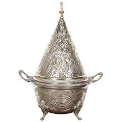 Moroccan Silver Dish Tajine with Cover