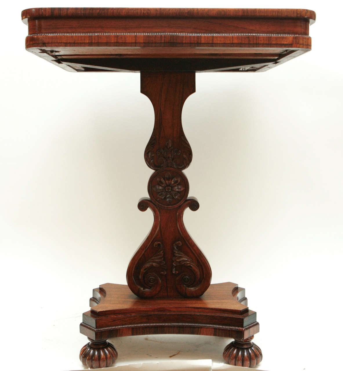 19th century english regency flip top game table for sale for Table th rotate