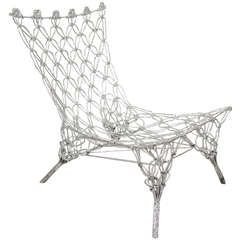 Marcel Wanders for Cappellini Limited Edition Chrome Epoxy Knotted Chair