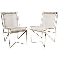 "Mathieu Matégot Enameled Steel ""Casablanca"" Dining Chairs"