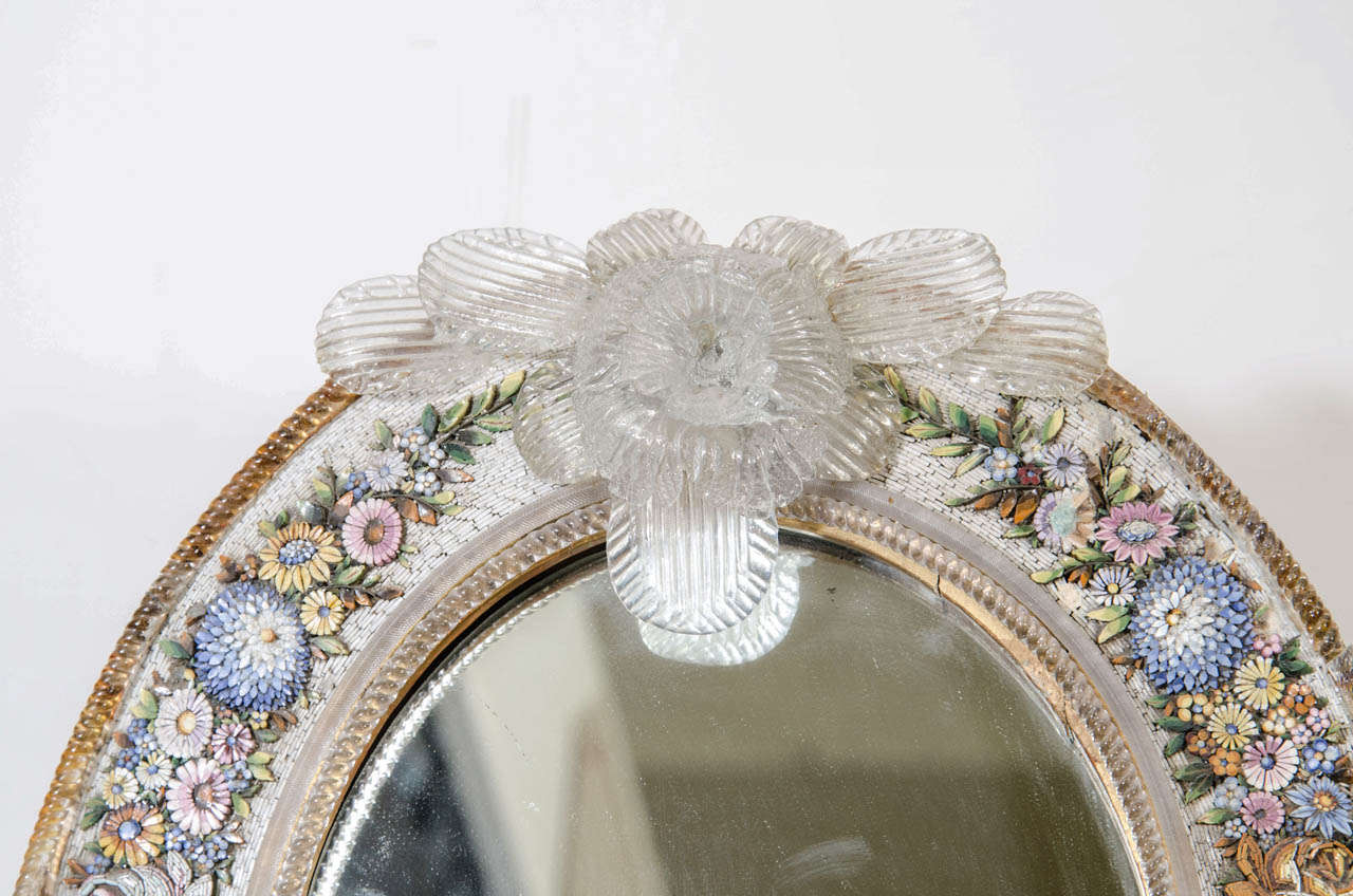 An Antique Micro Mosaic Venetian Table Mirror For Sale At
