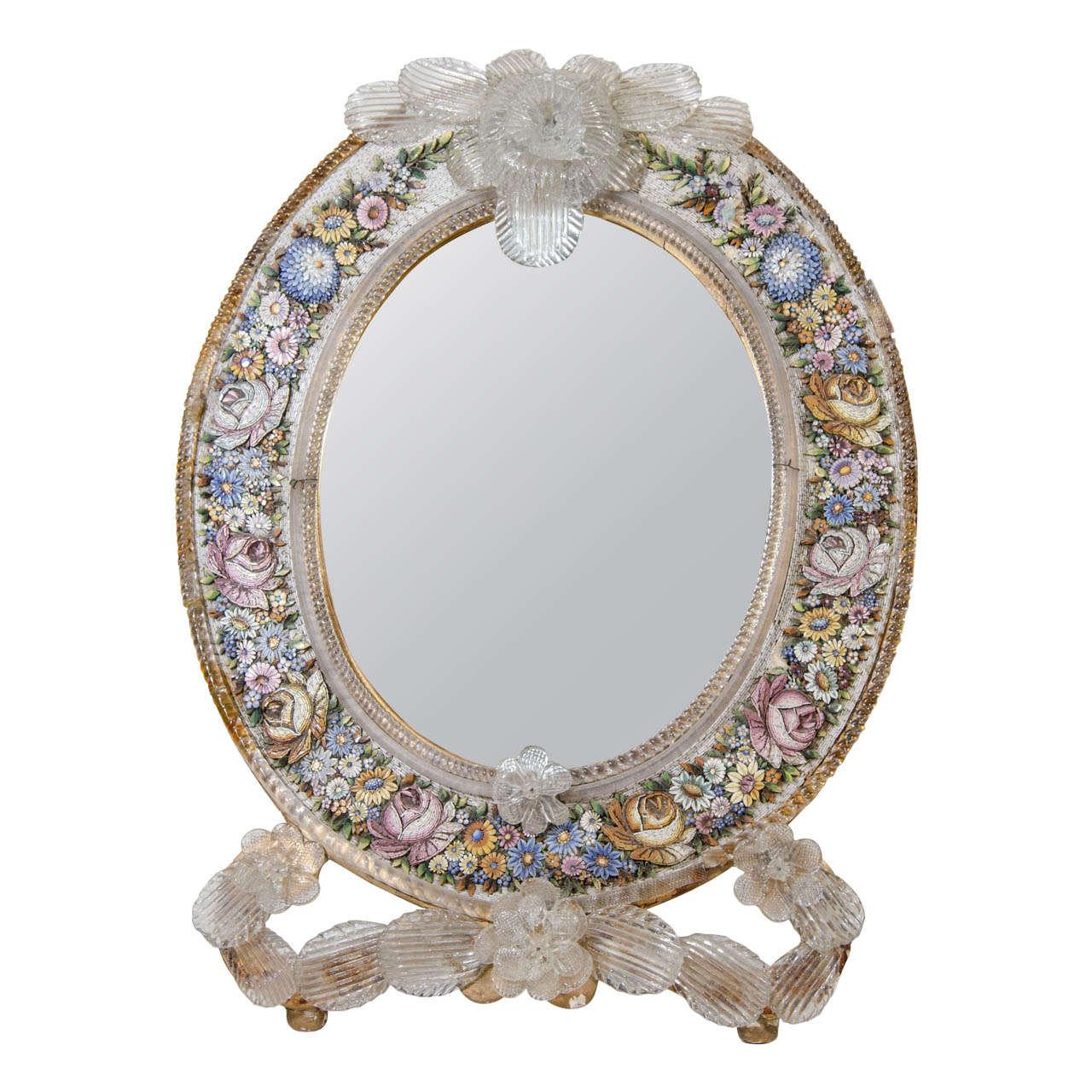 An antique micro mosaic venetian table mirror for sale at for Mosaic mirror