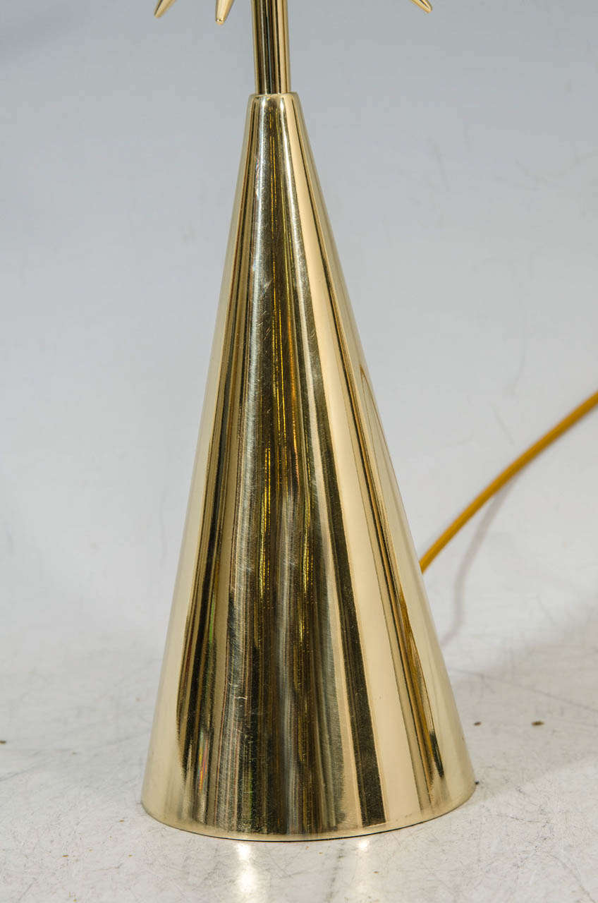 Mid-Century Modern A Mid Century Brass Sputnik Table Lamp by Laurel For Sale