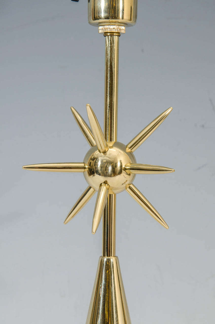 American A Mid Century Brass Sputnik Table Lamp by Laurel For Sale