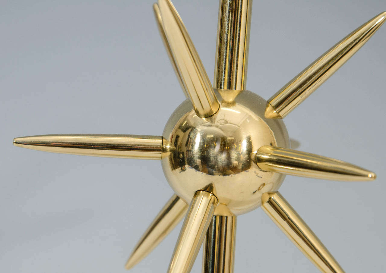 20th Century A Mid Century Brass Sputnik Table Lamp by Laurel For Sale