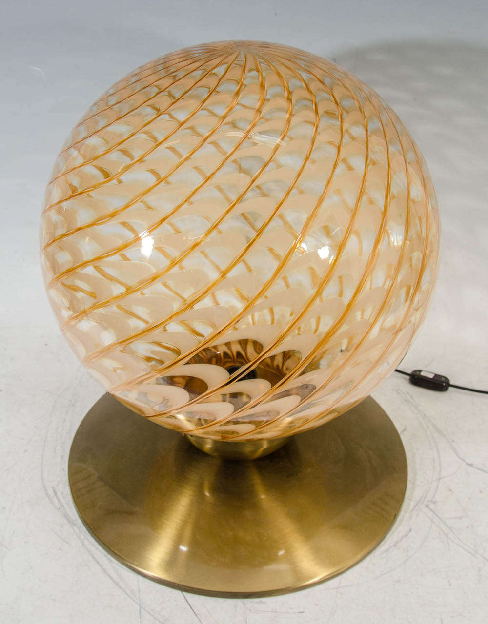 mid century italian blown glass globe table lamp or pendant at 1stdibs. Black Bedroom Furniture Sets. Home Design Ideas