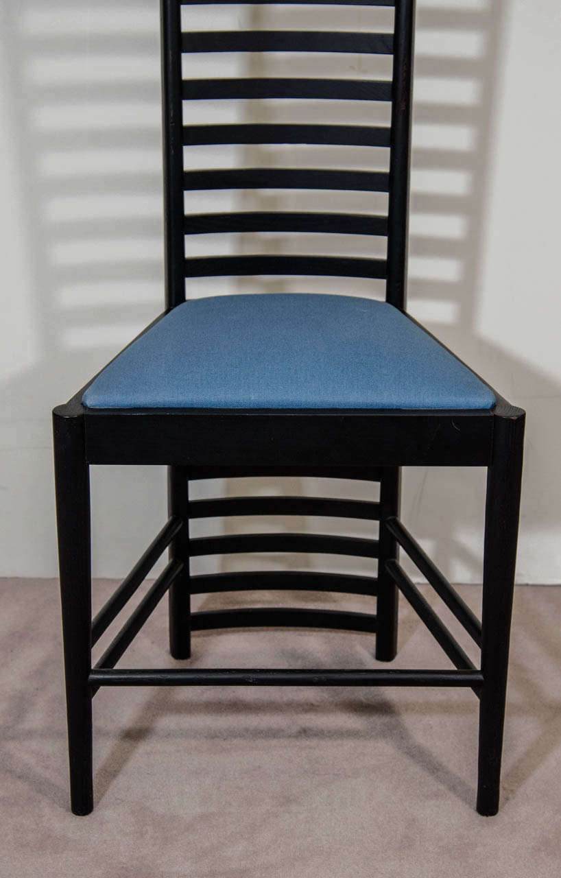 a charles rennie mackintosh hill house high back chair by cassina at 1stdibs. Black Bedroom Furniture Sets. Home Design Ideas