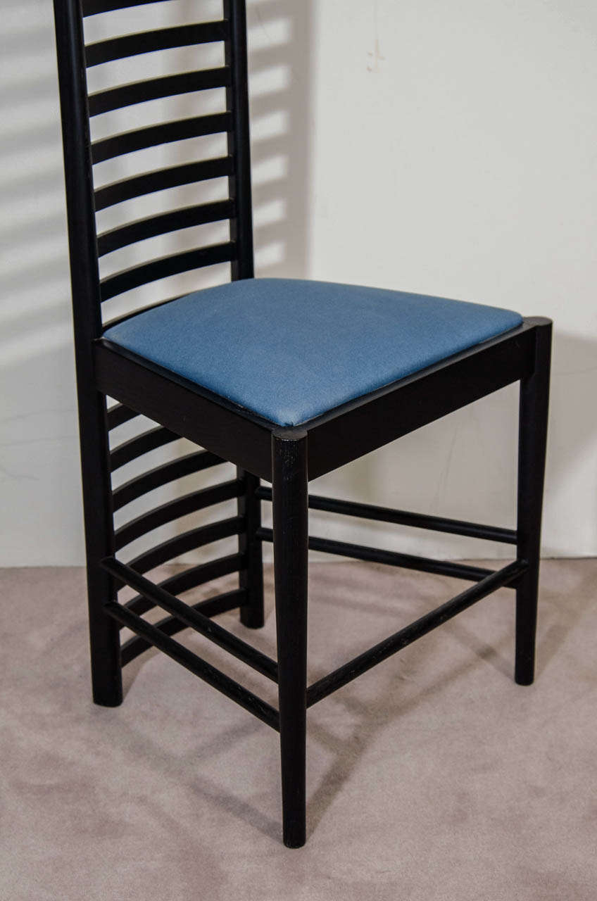 A Charles Rennie Mackintosh Hill House High Back Chair By