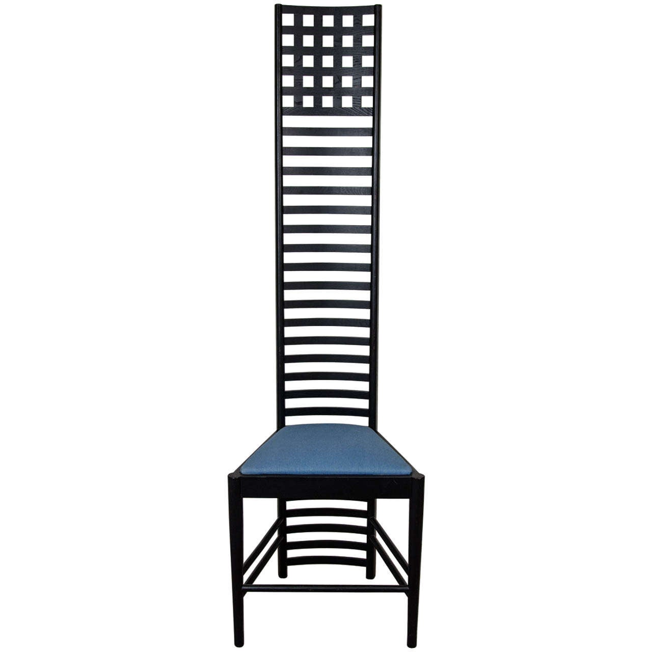Charles rennie mackintosh hill house high back chair by cassina at