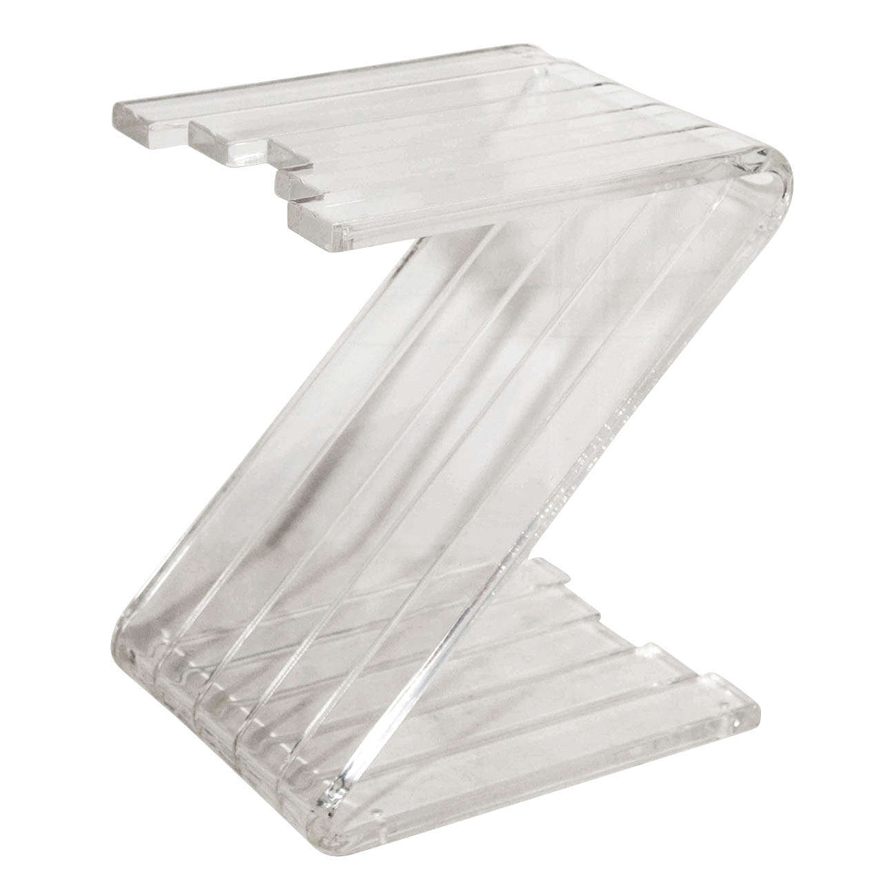a mid century thick lucite z shaped end table at stdibs - a mid century thick lucite z shaped end table
