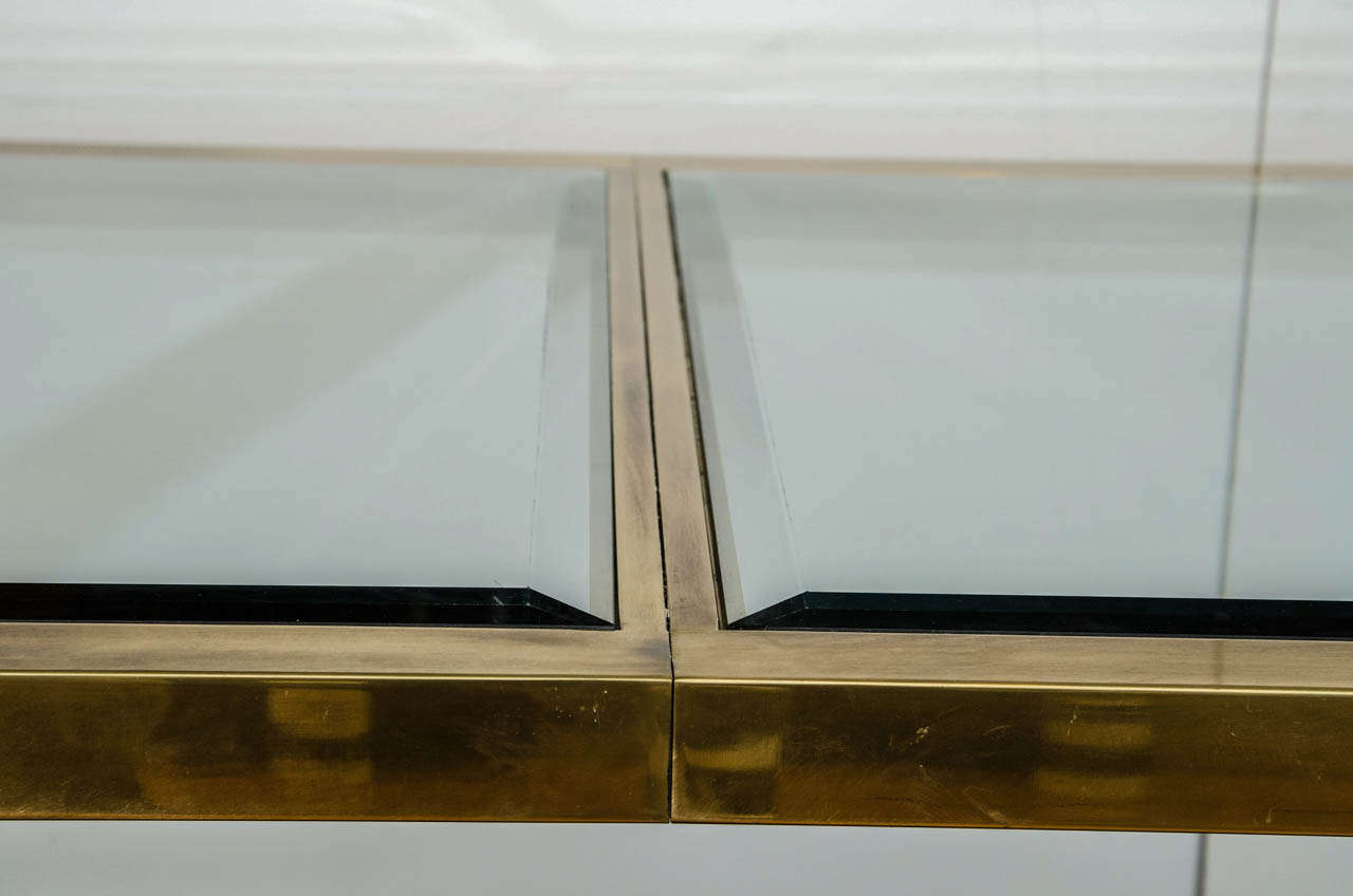 Mastercraft brass dining table - A Mid Century Mastercraft Brass And Glass Dining Table 3