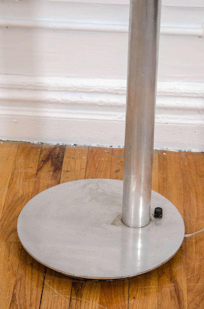 Mid Century Tubular Aluminum Arched Floor Lamp With