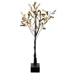 A Mid Century Curtis Jere Standing Tree Sculpture