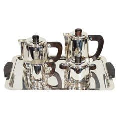 Exceptional Art Deco Coffee and Tea service Set by Christofle