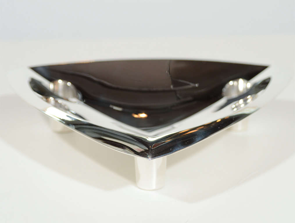 Mid-20th Century Sophisticated Mid-Century Modernist Tiffany & Co Sterling Silver Candleholder For Sale