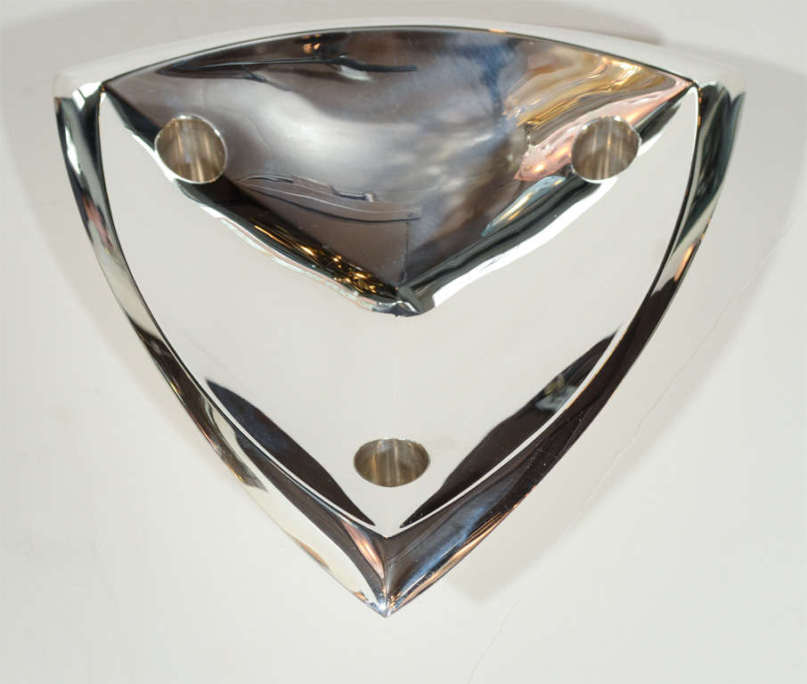 Sophisticated Mid-Century Modernist Tiffany & Co Sterling Silver Candleholder For Sale 1