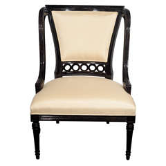 Sophisticated Mid-Century Modernist Chair in the Manner of Frances Elkins