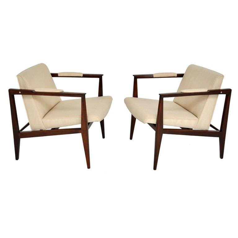 Dunbar lounge chairs edward wormley at 1stdibs - Edward wormley chairs ...