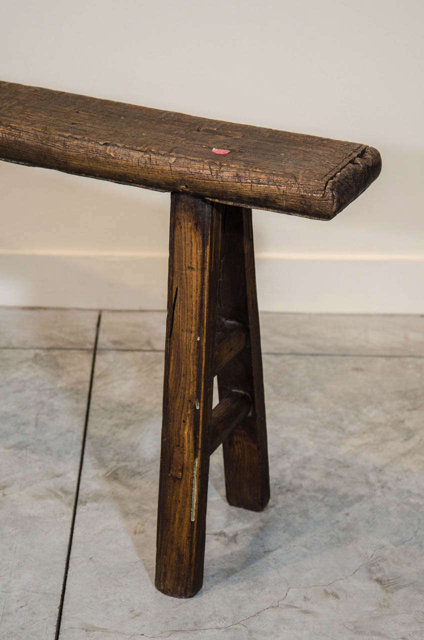 Simple Country Bench At 1stdibs