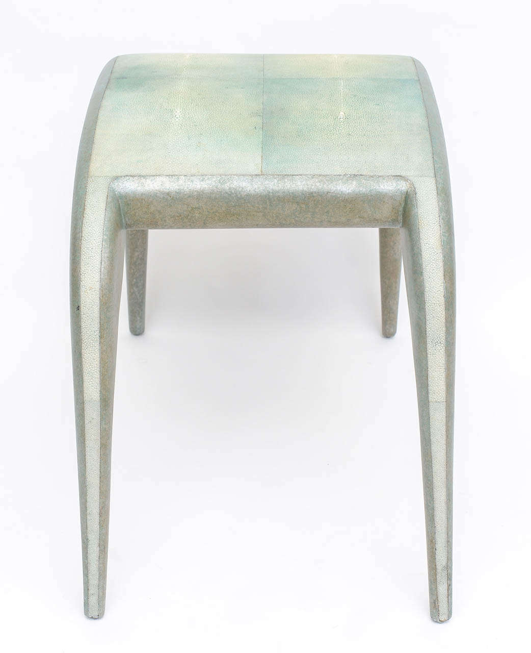 French Modern Shagreen Bench by R and Y Augousti In Excellent Condition For Sale In Miami, FL