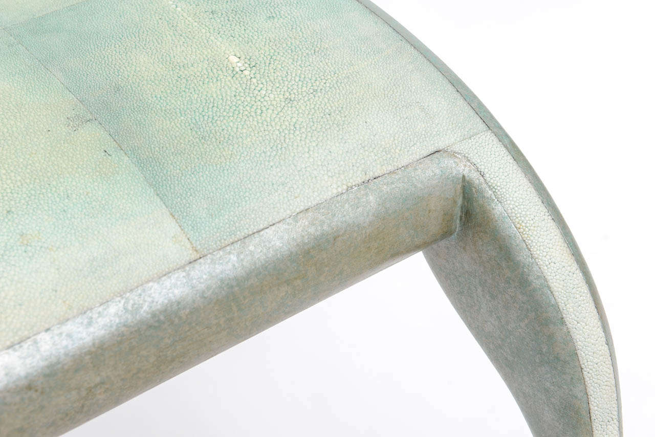 20th Century French Modern Shagreen Bench by R and Y Augousti For Sale