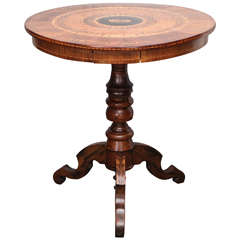 19th Century Italian Marquetry & Parquetry Table