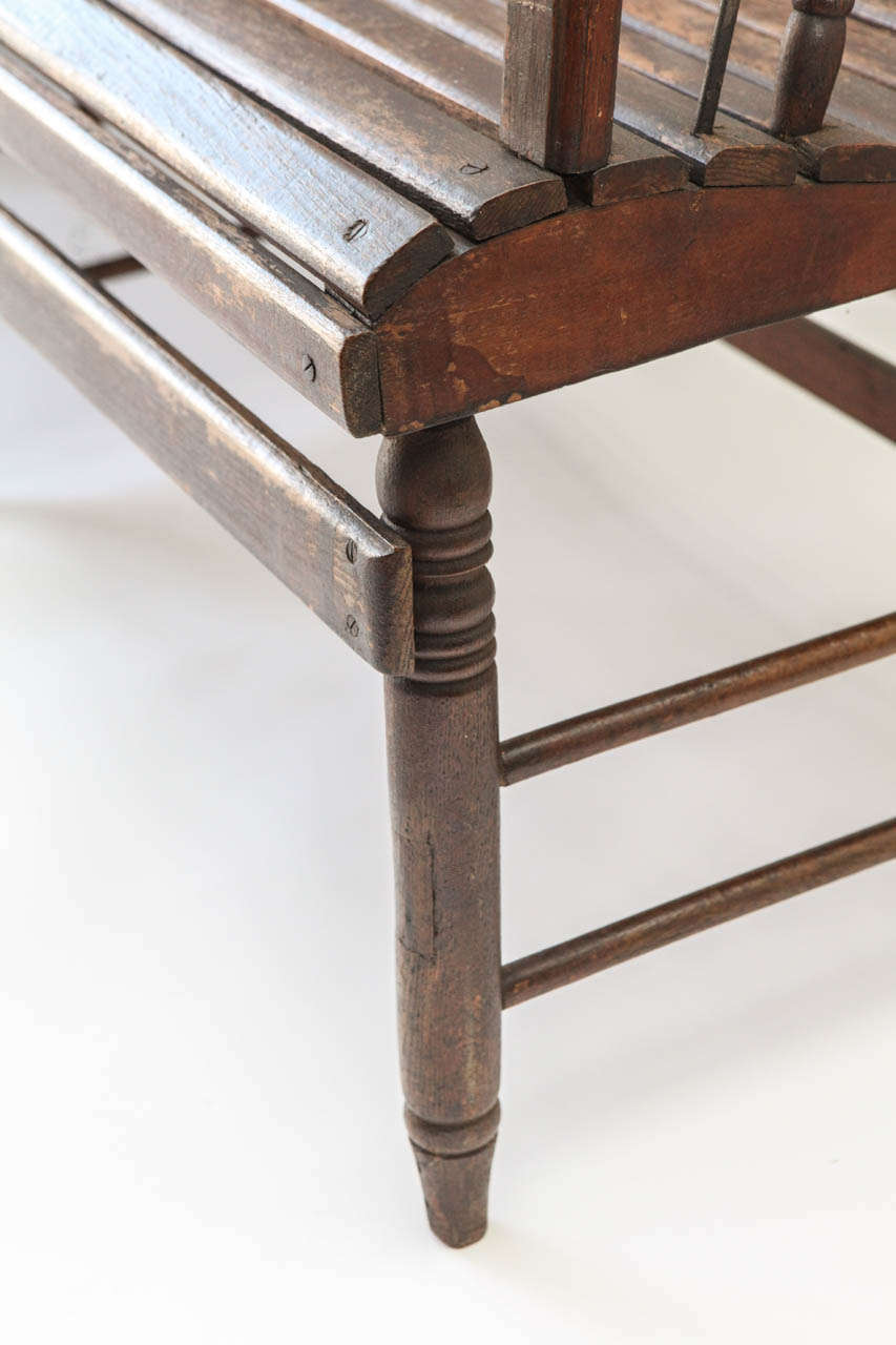 19th Century American Station Bench At 1stdibs