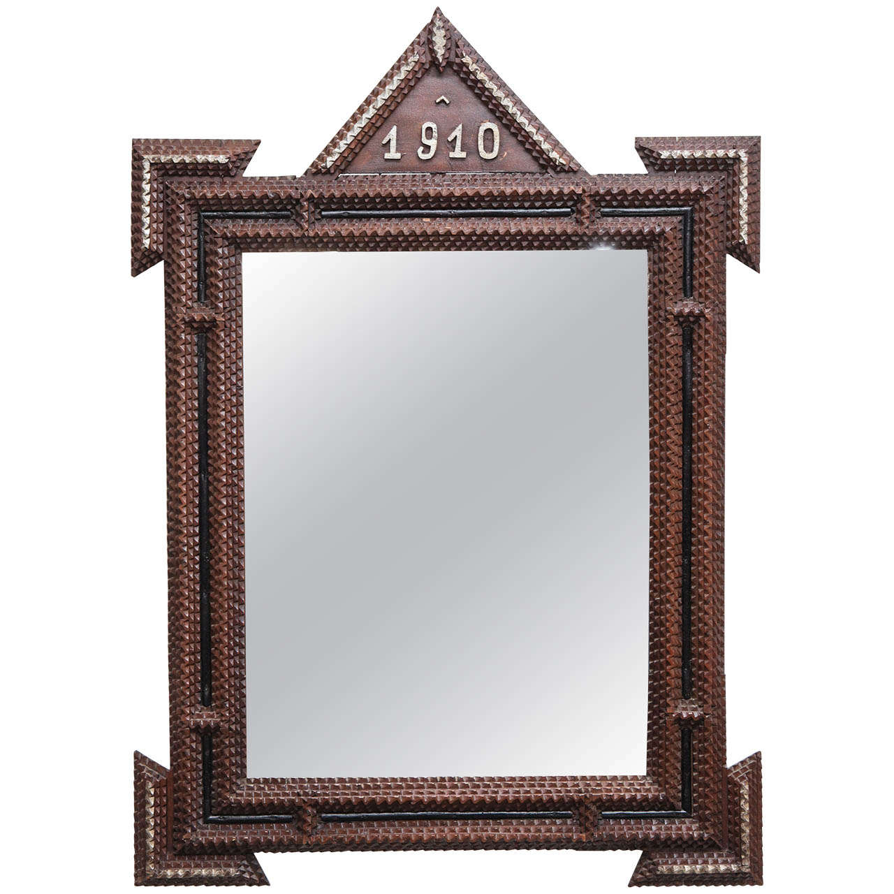 Pair of Tramp Art Mirrors, 1910 For Sale at 1stdibs