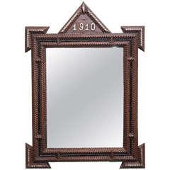 Pair of Tramp Art Mirrors, 1910