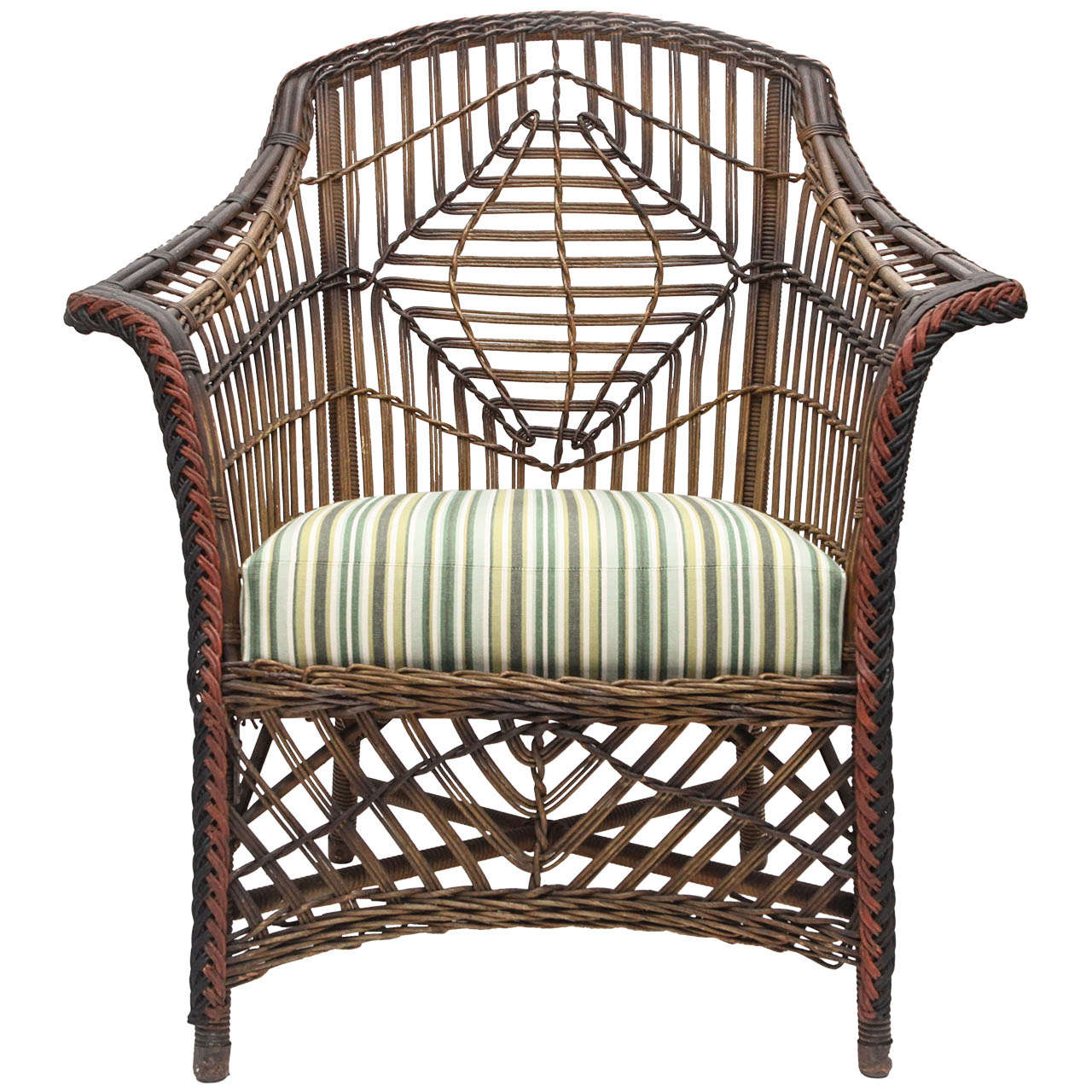 Early 20th Century Loyd Loom Arm Chair At 1stdibs