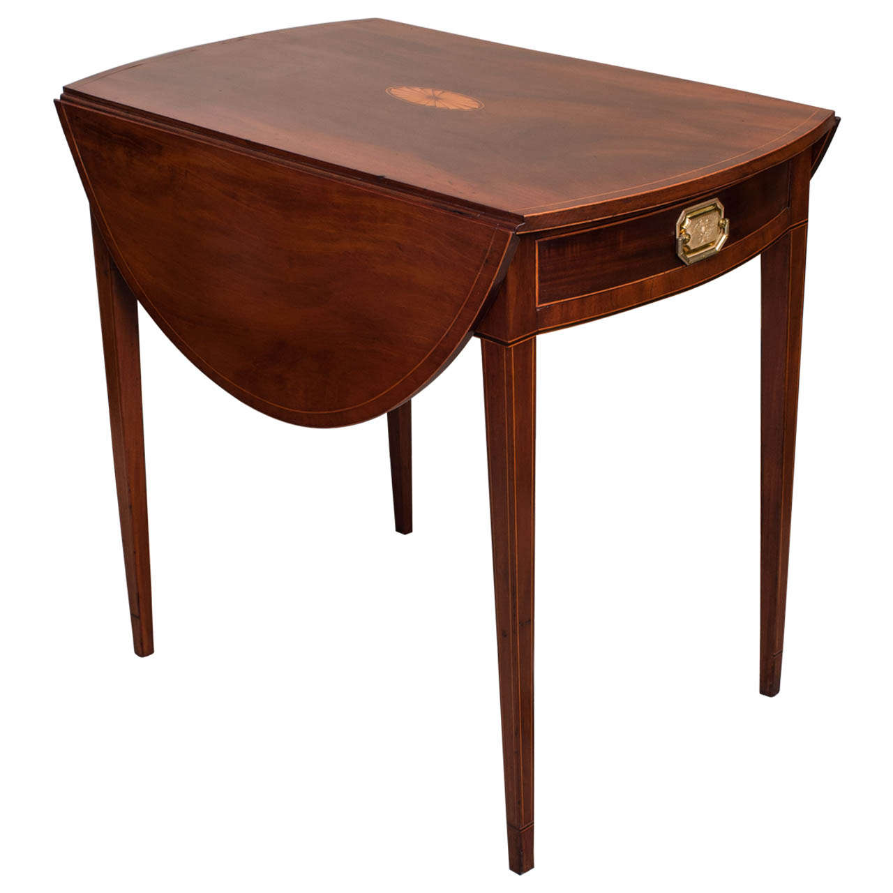 Excellent Federal Pembroke Table At 1stdibs