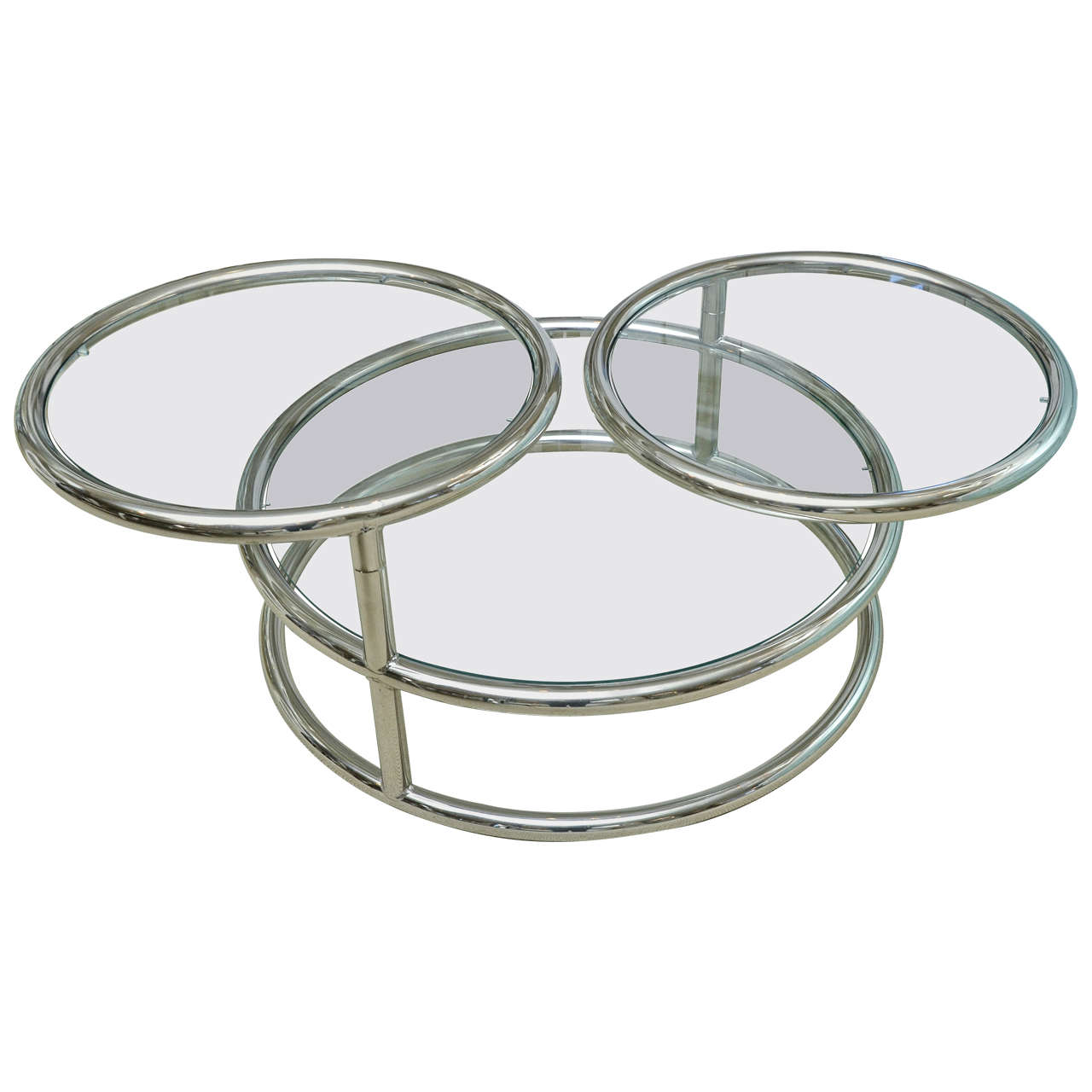 Swivel Glass Coffee Table On Popular Living Room Furniture Color