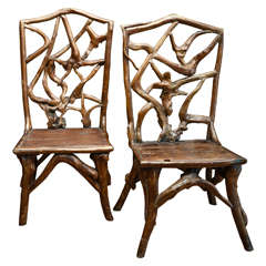Turn of the Century Qing Dynasty Southern Elm Root Side Chair