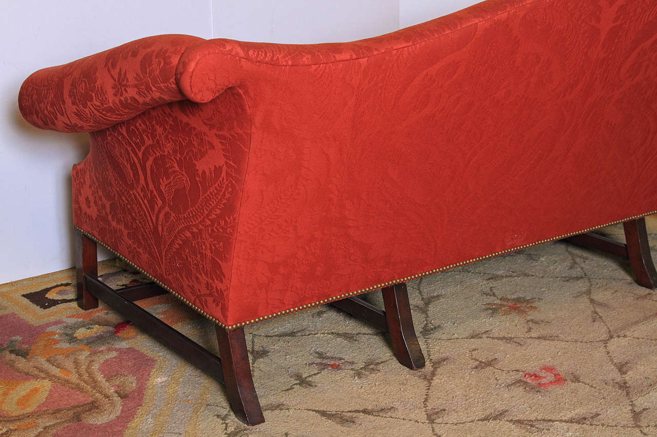 English Chippendale Style Camel Back Sofa For Sale 2